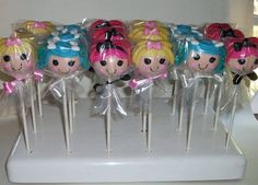 Lalaloopsy Cake Pops made by Kreative Pastries in their KC Bakes Cake Pop Stand. Aren't they incredible? :)