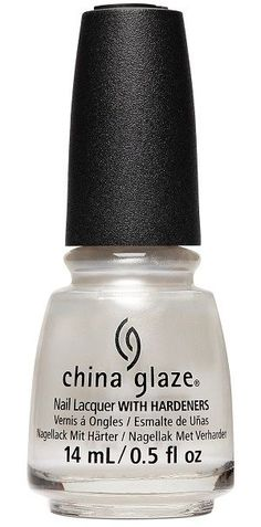 China Glaze Nail Polish, Pearl Talk 1717 Black And White Nail Art, White Nails, Nail Hardener, Nail Pops, China Clay, China Glaze Nail Polish, Pearl Nails, Colorful Nail Designs, Nail Treatment