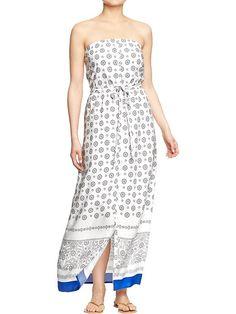 Women's Tube Maxi Dresses Product Image