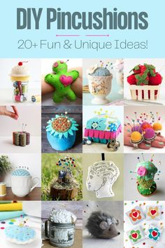 There are standard tomato pincushions, but if you want something really different check out this collection of awesome DIY pincushions! Berry Baskets, Pinterest Crafts, Least Favorite, Plastic Animals, Cute Rings, Felt Diy, A Pumpkin, Pretty And Cute, Pin Cushions