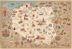 Mapa Polski z atlasu