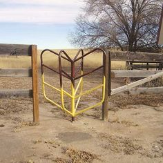 This throwback turnstile gate concept works well for horses and cattle; and provides easy access for the farmer!