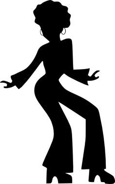 Afro Silhouette Clip Art   Afro Dancing Woman clip art - vector clip art online, royalty free ...