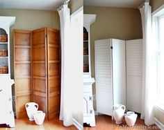 Create a Folding Screen | Closet doors, Divider and Doors