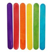 6 inch Jumbo Wood Craft Sticks in Bright Colors - 500 pack