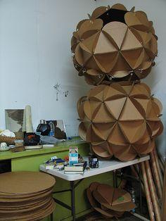 cardboard spheres