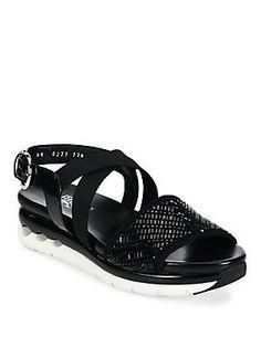 Salvatore Ferragamo Edotea Crystal Sport Sandals