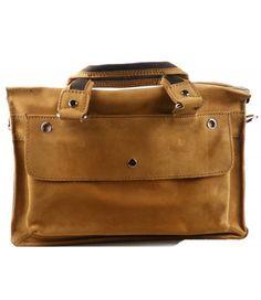 """13"""" Vintage Leather Satchel Messenger Bag"""