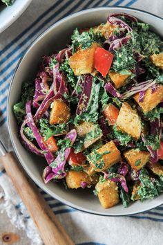 Creamy Southwest Kale and Roasted Potato Salad: Jessi's Kitchen