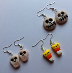 Polymer clay Halloween Earrings by DreamFimoCharms on Etsy. , via Etsy.