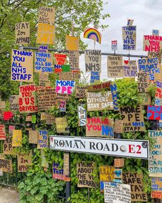 Roman Road showing the NHS and key workers all the support they deserve! #romanroad #eastlondon #nhs