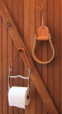 Stirrup towel holder