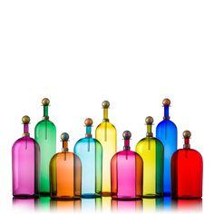 Bright Elegante Bottles - Vetro Vero: hand blown glass design