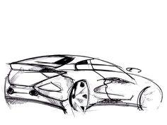Car design sketch on Behance