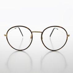 6f9e64b0e4 Round Preppy Polo Style Clear Lens Tortoise Vintage Glasses - Einstein