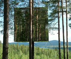 mirrored hotel in Sweden