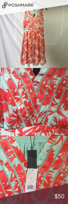 *NWT* Banana Republic Floral Dress Brand new, never been worn still with original tags! This bright and beautiful dress from Banana Republic has an eye catching floral pattern. It has an intricate stitching in the bodice and hem also has a hidden side pockets and zipper! Banana Republic Dresses Midi