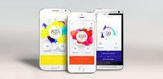VITAL WOHLFÜHL APP / #app #layers #colour / Swipe Hamburg