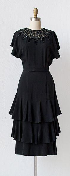 vintage 1940s dress | 40s dress