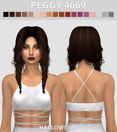 Peggy 4669 hair conversion at Hallow Sims via Sims 4 Updates