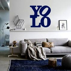 YOLO Decal – Navy from Wanderlust Wall Art - R169 (Save 30%)