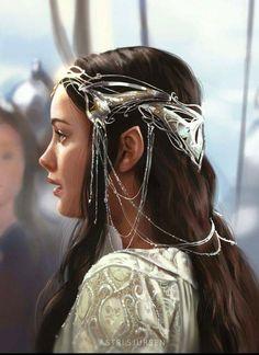 Arwen, Astri Lohne: study from Lord of the Rings. Legolas, Aragorn, Thranduil, Arwen Lotr, Gandalf, The Lord Of The Rings, Arwen Undomiel, O Hobbit, Hobbit Art