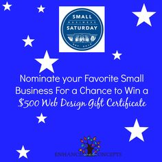 Small Business Saturday Giveaway! #free marketing www.enhancedwebconcepts.com Small Business Saturday, Gift Certificates, Social Media Marketing, Giveaway, Web Design, Gifts, Free, Presents, Design Web