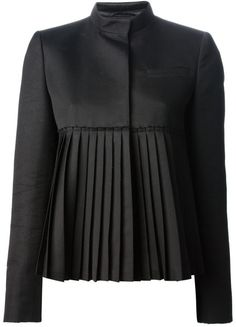 Givenchy Pleated Jacket in Black - Lyst
