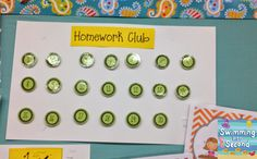 Swimming Into Second: H is for Homework (ABCs of 2nd grade)