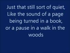 Quiet-Matilda the Musical Lyrics
