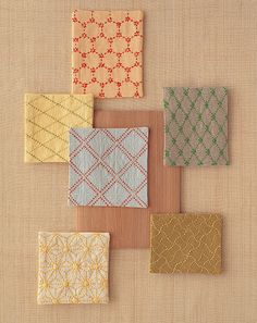 Assortment of sashiko embroidery #2. (No clue from where this came from either).