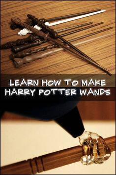 Here's a nice little project together with the kids... Learn how to make DIY Harry Potter wands!
