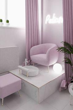 Home Nail Salon, Nail Salon Design, Nail Salon Decor, Salon Interior Design, Beauty Salon Design, Spa Room Decor, Room Ideas Bedroom, Bedroom Decor, Beauty Room Salon