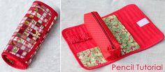 Costure prática lápis têxtil técnica de patchwork mosaico.  Tutorial em imagens.