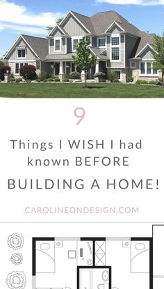 The Top 9 Things I Wish I had Known Before Building a House A must-read for anyone building a new home! 9 things I wish I had known before building a house. Caroline on design new home build tips. Welding Table, Build Your Own House, Build Your Dream Home, Home Building Tips, House Building, Building Your Own Home, Building A House Checklist, Home Building Design, Building Code