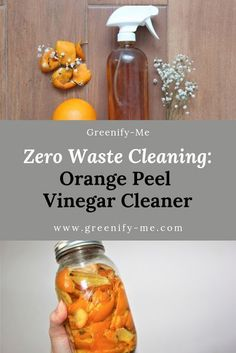 Zero Waste Cleaning: Orange Peel Vinegar Cleaner - Orange Peel Vinegar is perfec. - Zero Waste Cleaning: Orange Peel Vinegar Cleaner – Orange Peel Vinegar is perfect for zero waste - Deep Cleaning Tips, House Cleaning Tips, Natural Cleaning Products, Spring Cleaning, Cleaning Hacks, Green Cleaning, Cleaning Crew, Eco Friendly Cleaning Products, Homemade Cleaning Products