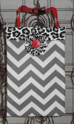 Decorative Chevron Inspired Auto/Car Litter Bag. $25.00, via Etsy.