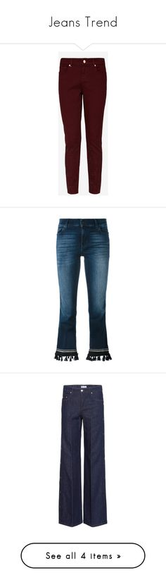 """""""Jeans Trend"""" by imperialfamilyfans ❤ liked on Polyvore featuring jeans, denim skinny jeans, red skinny jeans, cut skinny jeans, skinny leg jeans, skinny fit jeans, cropped jeans, boot-cut jeans, cropped bootcut jeans and 7 for all mankind jeans"""