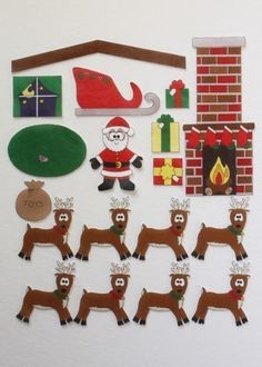 Night Before Christmas - ePattern for Print and Play Felt Figures. $4.00, via Etsy.