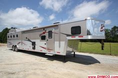 Horse Trailer Trader: 2013 Bison Trailer Stratus 8416SG 4H Super Slide New Horse Trailer in AL at Dixie Horse and Mule Co.