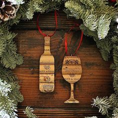 wine ornaments christmas cork ornaments wine gift gift