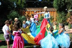Forever Enchanted Parties - Mountain View, CA, United States. Lead the kids in a parachute game