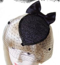 Glitter Bow Cocktail Hat, Fascinator