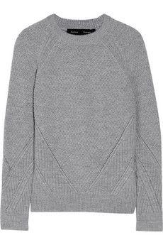 Proenza Schouler Paneled wool sweater | NET-A-PORTER
