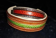 Hundehalsband aus Leder mit Fischledereinlage https://www.etsy.com/de/listing/235004909/hund-halsband-hundehalsband