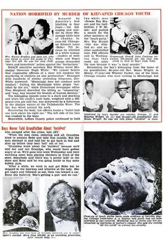Emmett Till and the murder that sparked the civil rights movement. 1955 Jet Magazine article and photos.