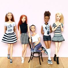 Monochrome Monday #barbie #barbiedoll #barbiemadetomove #madetomovebarbie #madetomove #barbiefashionista #barbiestyle #barbieclothes #dollcollector #dollclothes #mickeymousetshirt #mickeytshirt