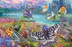 Post stamp Niger NIG 15224 aButterflies (Bibasis amara, {…}, Anthocharis cardamines)