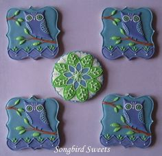 gallery of 'songbird sweets' cookies | visit facebook com