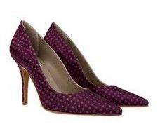 Tribeca Purple Brown spots Italian stiletto heels